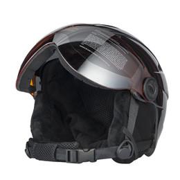 Высокое качество интегрально лыжный шлем с Goggle наполовину покрыты лыжный шлем очки CE спорта на открытом воздухе Сноуборд черный