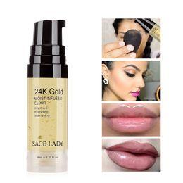 5494ebfa8 24K Gold Elixir Oil para Maquillaje Facial Primer 6ml Hidratante  Profesional Maquillaje Base Base Primer poros Cosmético / 15ml
