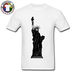 pure white tee Australia - USA Statue Of Liberty Black White T-Shirt Brand Clothing Man Tops & Tees Short Sleeve Pure Cotton Holiday T-shirts New Arrival