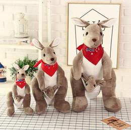 $enCountryForm.capitalKeyWord Canada - Free shipping Plush Dolls Kangaroo plush toy doll mother kangaroo doll creative parent-child Novelty Toys Xmas Gift For Kids Holiday Gift
