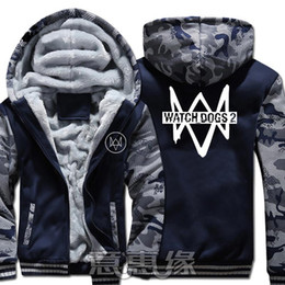 $enCountryForm.capitalKeyWord Australia - New Winter Warm watch dogs 2 Hoodies cosplay Hooded Coat Thick Zipper men Jacket Sweatshirt