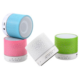 Iphone Stereo Player Australia - Portable A9 LED Colored Mini Wireless Bluetooth Speaker FM Radio TF USB MP3 Stereo Audio Music Player for iphone android
