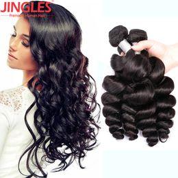 Hair Waves Online Australia - 9A cheap Brazilian Human Hair Bundles Loose Wave hair weaves 100% Cuticle Aligned Brazilian Virgin Human Hair wefts extensions online sale