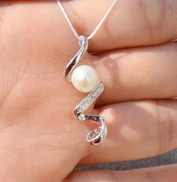 1 pc de zircão pingente de prata esterlina sólida configuração, pingente de montagem sem corrente, pingente em branco sem pérola, jóias DIY, presente DIY