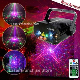laser stage lens NZ - Chims Stage Laser 5 Lens RGB 96 Pattern Mini Laser LED Light Lighting Effect Colorful Projector Disco Xmas Music Festival Party