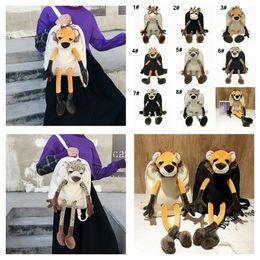 Discount lion toys for kids - Children Plush Backpacks Tiger Lion Leopard Deer For Kids Doll stuffed Toys Animal Cartoon Backpack Baby Kids School Bag