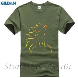 $enCountryForm.capitalKeyWord Australia - Design Printing Horse Printing 2017 Autumn New Fashion Cotton Background Short Sleeve Shirt O-neck T-shirt Loose T-shirt