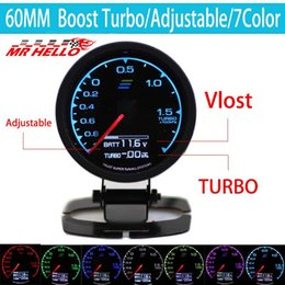 "digital race car 2019 - MR- 62mm 2.5"" 7 Color in 1 Racing Gauge GReddi Multi D A LCD Digital Display Turbo Boost Gauge Car cheap digital ra"