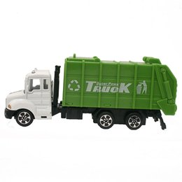 garbage for car 2019 - 1:64 Mini Toys Cars Model Alloy Garbage Truck Engineering Green Car Model Display Stand Gift for Kids (L:W:H)17:4:8CM ch