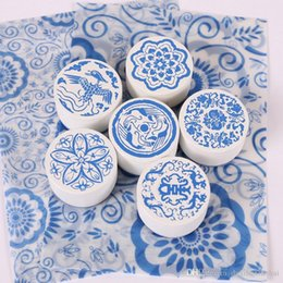 $enCountryForm.capitalKeyWord Canada - 1 x China wind vintage is blue and white porcelain diary wooden stamp for Kids DIY Handmade Scrapbook Photo Album, Crafts gifts