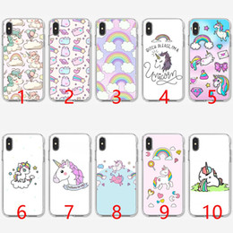 Iphone Transparent Rainbow Case Australia - Cute Unicorn Rainbow Cartoon Soft Silicone TPU Phone Case for iPhone 5 5S SE 6 6S 7 8 Plus X XR XS Max Cover