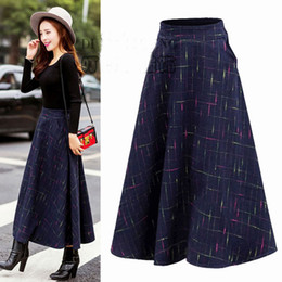 high rise skirts 2019 - 2018 Hot Sale Special Offer A-line None Winter Long Skirt Waist High-rise Retro Thick Qiu Dongkuan Wadding Large Female