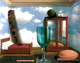 $enCountryForm.capitalKeyWord Australia - hand-painted on canvas surrealist rene magritte oil painting reproduction painting wall decoration oil painting wall art unique gifts Kungfu