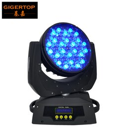 Usa Lamps UK - TIPTOP TP-L610 90x5W Led Moving Head Wash Light Zoom 9-42 Degree USA Cree Lamp High Brightness RGBW Single Color DMX 16 Channels