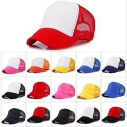 Plain mesh hats online shopping - 12 Colors Adult Mesh Caps Summer Plain Trucker Mesh Hat Snapback Blank Baseball Cap Casual Ball Caps Can Adjustable Size CCA9119