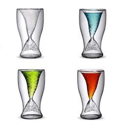 $enCountryForm.capitalKeyWord NZ - Beautiful Mermaid Wine Glass Mermaid Tail Cocktail Glass Double Wall Wine Beer Whisky Coffee Cup Glassware Bar Tools 100ml