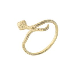 Wholesale GORGEOUS TALE New Fashion Stainless Steel Jewelry Snake Ring Gold color Bague Serpent Snack Rings For Women Cute Party Jewelry