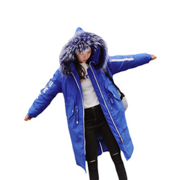 $enCountryForm.capitalKeyWord UK - 2018 New Fashion Womens Winter Wadded Cotton Jacket High Quality Letter Printed Long Parkas Hooded With Fur Warm Outwear LQ369