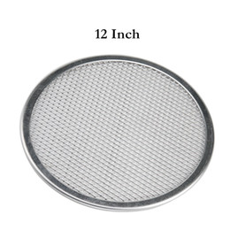 $enCountryForm.capitalKeyWord NZ - 12 Inch Baking Screen Aluminum Pizza Pan Round Chef Baking Dish Commercial Microwave Crispers