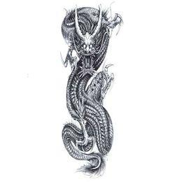 ab2e81a99 Fake Dragon Tattoos UK - China Dragon Waterproof Temporary Tattoos Men Full  Arm Flash Tattoo Art