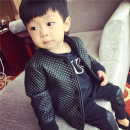 Boys pu leather jackets online shopping - SQBCMW kids Spring autumn clothes Children Jacket for Boys Outerwear Children s PU Leather Coat black fashion