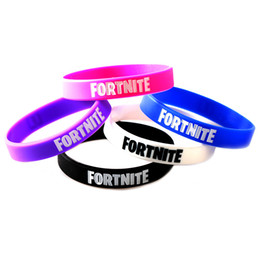 Platinum mens gifts online shopping - Colors Silicone Game Fortnite Wristband Gift Braided Bracelet Women Mens Hip Hop Designer Jewelry Party Decorations