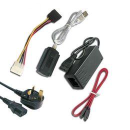 AtA hArd drive usb online shopping - New USB to IDE SATA S ATA Hard Drive HD HDD Converter Adapter Cable XXM8