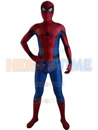 Costume Spandex Movie NZ - New Movie Spider-Man: Homecoming Spiderman Cosplay Costume Spandex Print Spiderman Superhero Costume