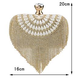 $enCountryForm.capitalKeyWord Canada - Free shipping by DHL Newest tassel crystal women bag luxury imitation pearl evening bags wedding beaded bridal clutches small purse bag