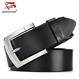 Designer Leather Trousers Australia - DINISITON designer belts men high quality vintage cow genuine leather belt trouser strap gift for men belts luxury ceinture