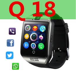 Touch Screen Watches For Men NZ - Bluetooth Smart Watch Men Q18 With Touch Screen Big Battery Support TF Sim Card Camera for Android Phone Passometer