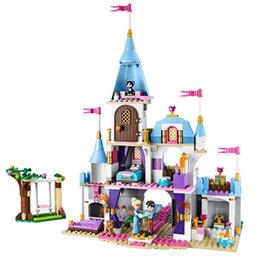 plastic toy castle building blocks 2018 - 697pcs+ Cinderella Romantic Castle Princess Friend Building Blocks For Girl Sets Toy Compatible Legoingly Friends Bricks