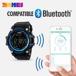 $enCountryForm.capitalKeyWord NZ - 2018 SKMEI Men Smart Watch Pedometer Calories Chronograph Fashion Outdoor Sports Bluetooth Watches 50M Waterproof Digital Wristwatches