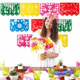 Birthday parties decoration online shopping - Eco Friendly Mexican Banner Garland Wedding Flag Banner Decorations For Themed Party Papel Picado Halloween Birthday Party
