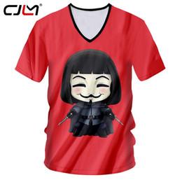 $enCountryForm.capitalKeyWord NZ - CJLM Hot Sale Anime T-shirt Men Funny Print V For Vendetta 3D Tshirt Male Fit Slim Workout Fitness Casual T Shirts Short Sleeve