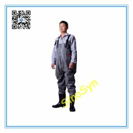 $enCountryForm.capitalKeyWord UK - FQ1727 All Rubber Safty Chest  Waist Wader Pants Protective Working Fishery Men Boots--Black