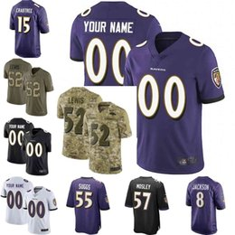 Men youth women Vapor Untouchable Ravens 8 Lamar Jackson 9 Justin Tucker 29  earl thomas III Custom Camo Salute to Service football jersey 02 34b9f5efd
