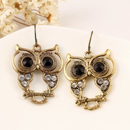 725504fec Silver owl Stud earringS online shopping - Wholesales Gemstone Owl Earrings  Gold Hoop Earrings Mens Earrings