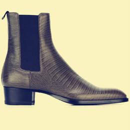 $enCountryForm.capitalKeyWord UK - Real Picture slip one luxury design handmade customized Paris fashion men leather Chelsea boots genuine leather men shoes