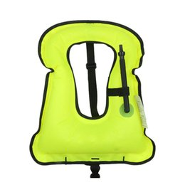 Discount suits for swimming - Inflatable Life Jacket Life Vest For Children & Adult Foldable Aquatic Sports Swimming Diving Surfing Fishing Parent-Chi