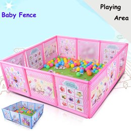 kids safety games 2018 - 2018 Baby Playpen Kids Fence Playpen Plastic Baby Safety Fence Pool Game Crawling Safety Guardrail Step discount kids sa