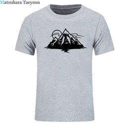 mountain tees Canada - 2018 Brand New Mountain T-shirt men's 100% Cotton Tops Shirt Short Sleeve Tees man Casual Tshirt Fashion Clothes
