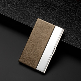 6bdca8e2565 Creative business card case stainless steel Aluminum Holder Metal Box Cover  Credit business card holder card metal Wallet men 6 colors