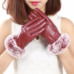 $enCountryForm.capitalKeyWord Australia - 2018 Hot selling good quality Fashion Women Warm Thicken Elegant PU Leather Faux Fur Wrist Winter Gloves