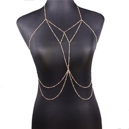 8574bbde838 New Sexy Body Chain Bra Necklace Waist Chains Gold Fashion Body Jewelry for  Women Beach bodychain drop shipping 162681