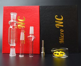 Micro Oil Australia - DHL Micro NC Mini Nectar Collector Kit With Domeless Titanium Tip Nail Glass Dish 10mm Glass Pipe Inverted Nail oil rigs Glass Bong