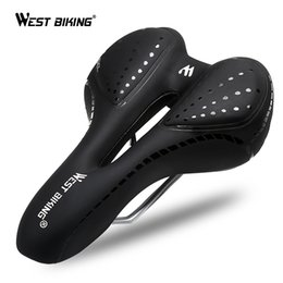 $enCountryForm.capitalKeyWord NZ - WEST BIKING Bike Saddle Comfortable Silicone Cushion Silica Gel Hollow Cycling Seat Shockproof Mountain Road Bicycle Saddle