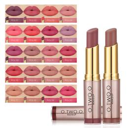 Longer Lasting Lipstick NZ - O.TWO.O 20Colors Matte Lipstick Lips Makeup Makeup Long Lasting Kissproof Lip Gloss Lipstick Best Selling Clearance Cosmetics