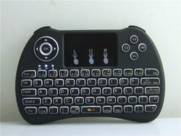 Rétro-éclairé Sans Fil Blacklight Clavier H9 Fly Air Souris Multimédia Télécommande Touchpad De Poche Pour Android TV BOX