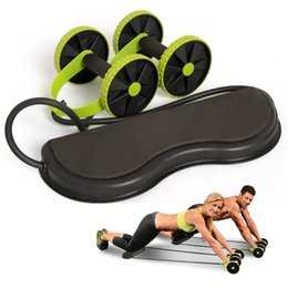Hot exercise online shopping - Household Double Ab Rollers Mute Waist Slimming Pull Rope Abdominal Wheel High Elasticity Fitness Exercise Equipment Hot Sale hd B